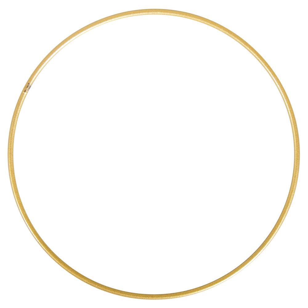 Obręcz / koło metalowe, złote, 25 cm   KreatywnySwiat.pl